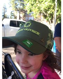 Check Outside Women's Trucker Hat Turtle Green