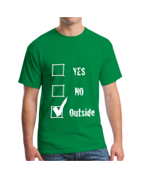Yes, No, Check Outside T-shirt