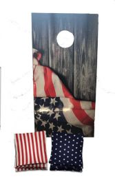 American Flag Regulation Cornhole Boards