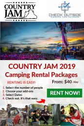 Country Jam 2019 Camping Rental Packages