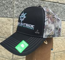 Check Outside Women's Trucker Hat Black